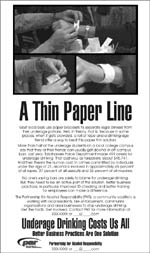 a thin paper line